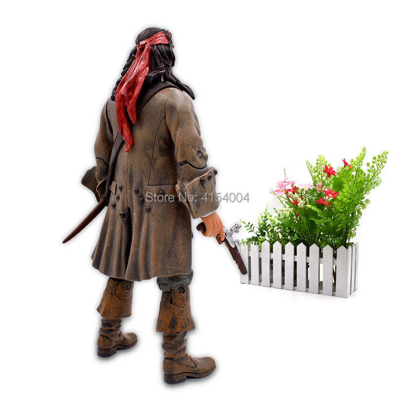 """Image 4 - 12""""30 cm Pirates Of The Caribbean Captain Jack Sparrow Jackie PVC Action Figure Articular Movable Collectible Model ToysAction & Toy Figures   -"""
