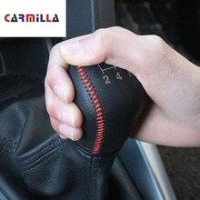 Автомобильный рычаг переключения передач для Fiesta Focus 3 4 MK3 MK4 MT, Кожаный Автомобильный рычаг переключения передач для Ford New Fiesta Ecosport