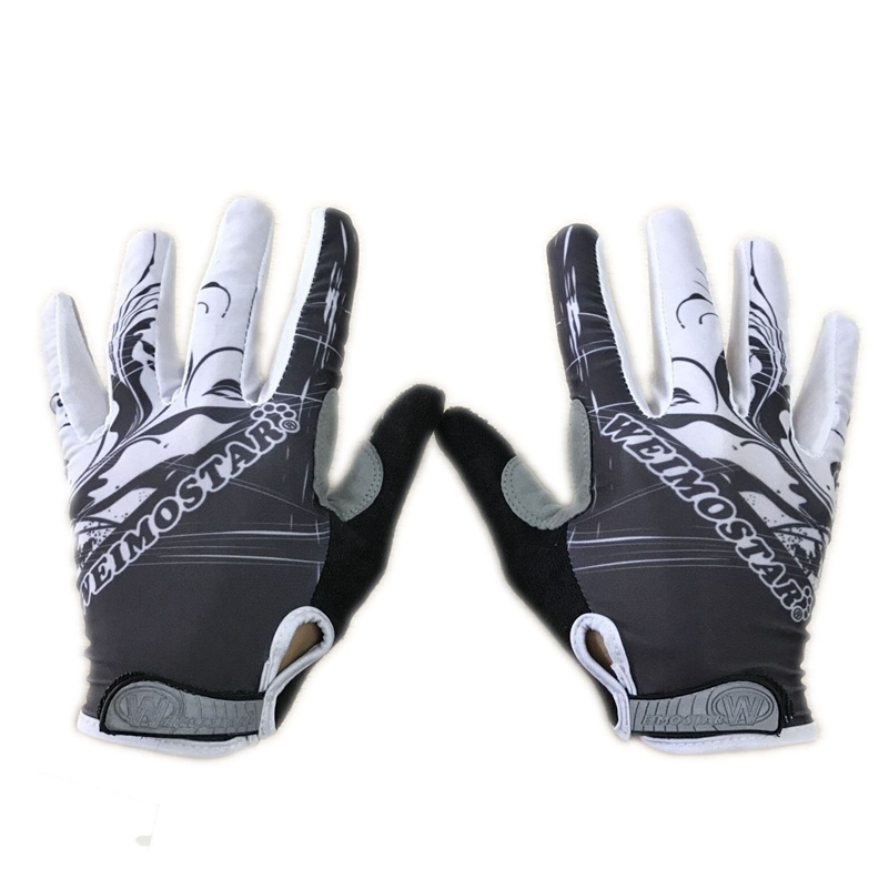Weimostar Brand White Cycling Gloves Shockproof Gel Padded Bike