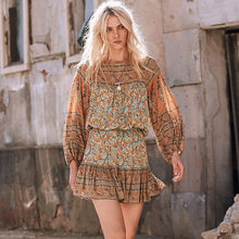 5c7ec1bb6b Boho Hippie Mini faldas para mujer 2018 verano gitana impresión elástico de  la cintura falda de encaje falda chic saia Mujer rop.
