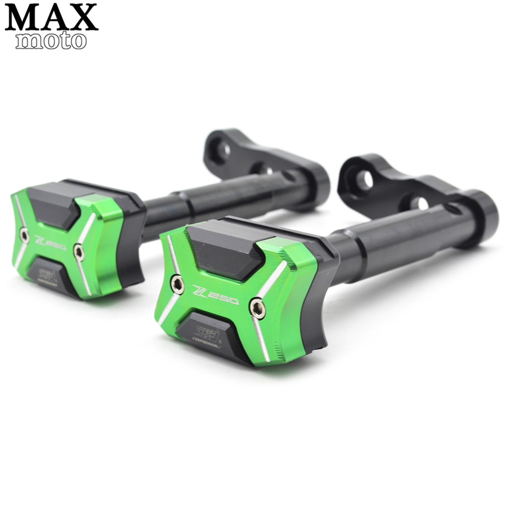 CNC aluminum Motorcycle Frame Sliders Crash Engine Guard Pad Aluminium Side Shield Protector For Kawasaki Z250SL 2016 cnc aluminum motorcycle frame sliders crash engine guard pad aluminium side shield protector for kawasaki z1000sx 2010 2016
