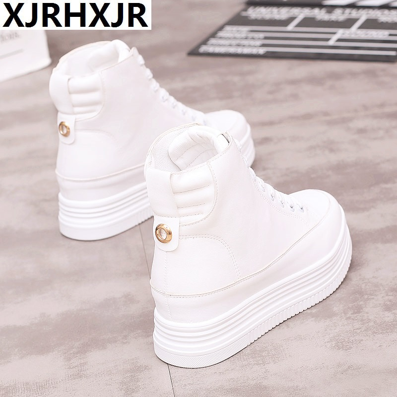 Factory Casual High-top Shoes Fashion Lace-up Flats White Winter Platform Boots Zapatos De Mujer Sneakers Women Tenis Feminino все цены