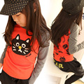 Hot sale Size100~140 children t-shirts for boys long sleeve t shirts girls tops tees child autumn spring