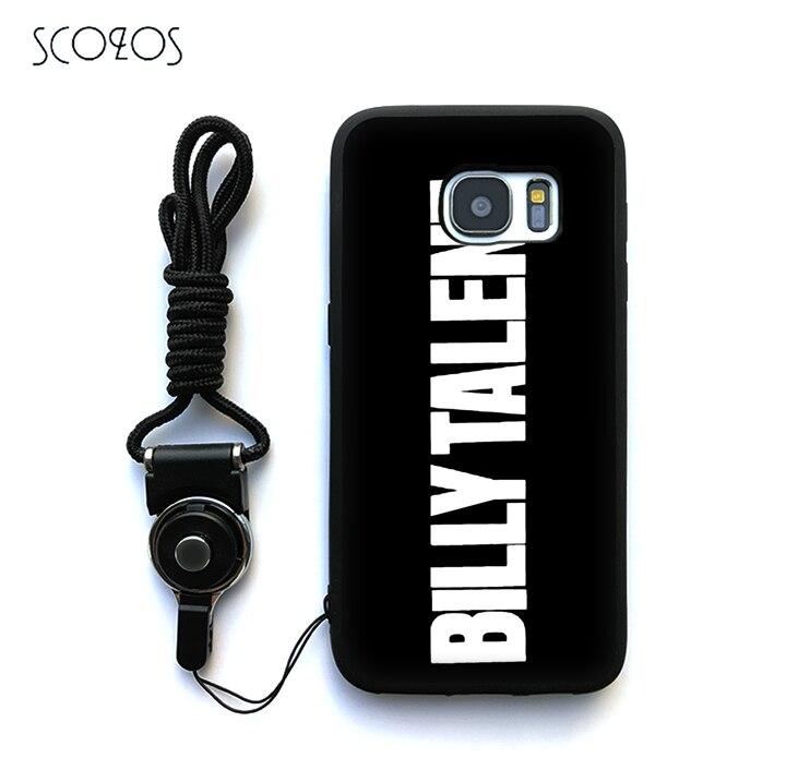 Scozos Билли талант рок-группа логотип силиконовый чехол для Samsung Galaxy S6 S7 S7 Edg ...