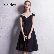 e7a9bfbe5 Es YiiYa ventas sin mangas Sexy vestidos de cóctel negro famoso diseñador  de alta calidad de lujo vestido negro LX381