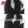 Высокое Качество 180% Плотность Странный Вьющиеся Синтетический Парик Фронта Шнурка Жаропрочных Волокна Синтетические Волосы Парики для Афро-Американцев