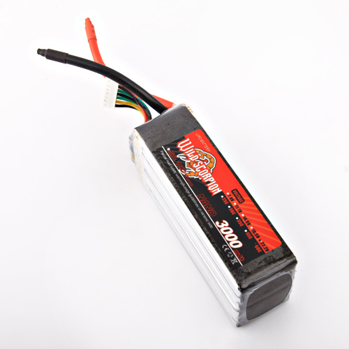1pcs Wild scorpion RC Lipo Battery 22.2V 3000mAh 60C Li-polymer Battery For RC Quadcopter Drone Helicopter Car Airplane wild scorpion rc 18 5v 5500mah 35c li polymer lipo battery helicopter free shipping