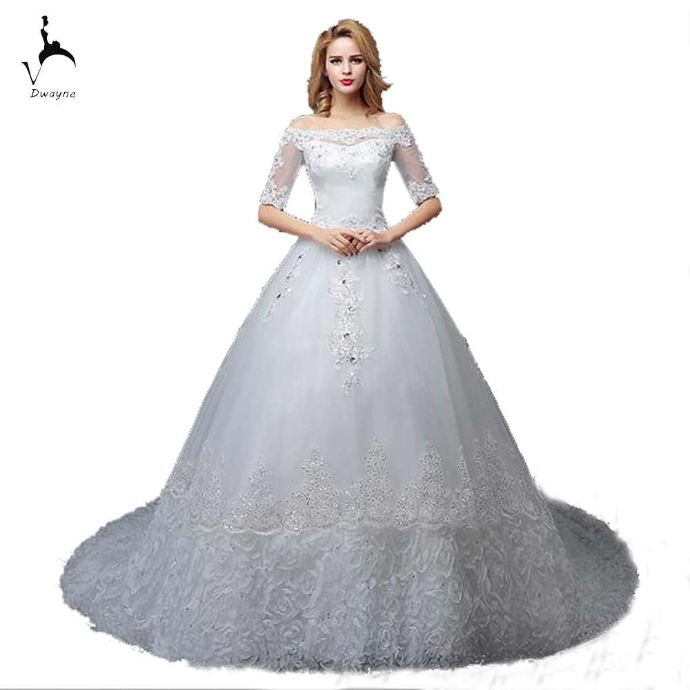 Wedding Discount Wedding Dresses online buy wholesale wedding dresses discount prices from china 2017 stunning court train dress lace up back 12 sleeve length price