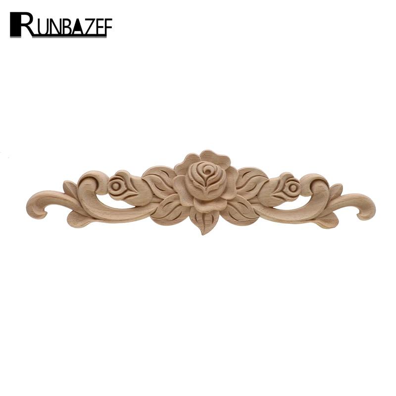 The Unpainted Wood Carving Stamp Applique Decorative Crafts Furniture Closet Door Frame