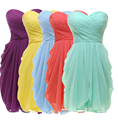 Tulle Mint/Purple/Pink Pleat Short Bridesmaid Dresses 2016 Under 50 Wedding Party Dress Pleated Party Dress Strapless
