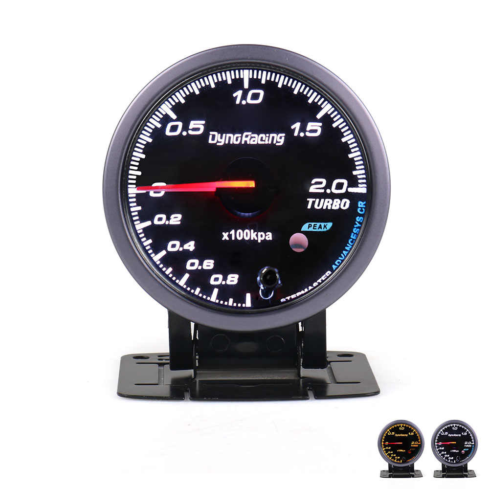 Dynoracing 60 Mm Hitam Wajah Mobil Turbo Boost Gauge 2 BAR dengan Putih & Amber Lampu Turbo Boost Meter/ mobil Meter TT101478