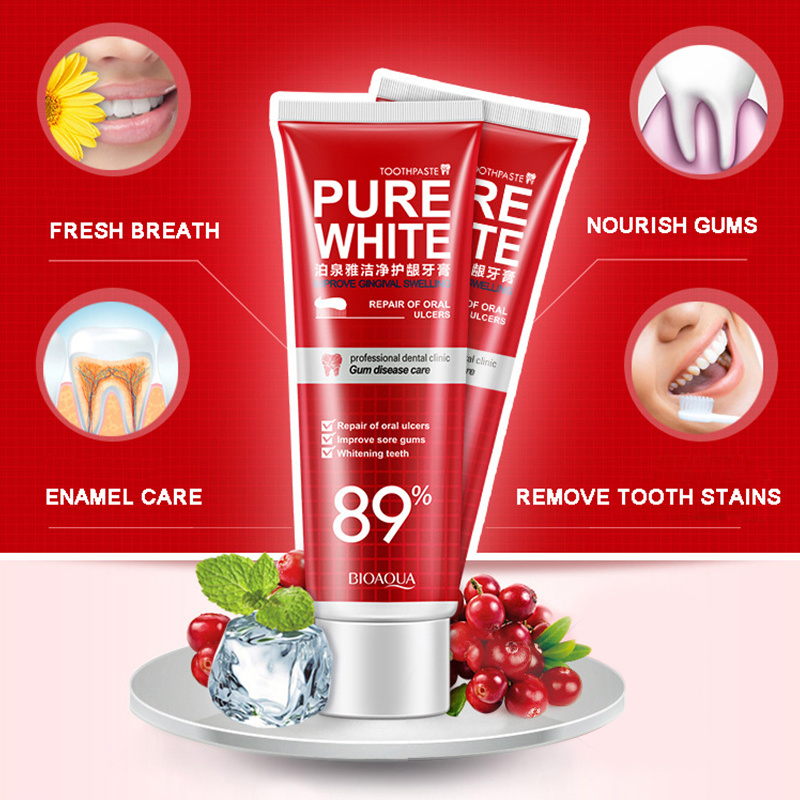 Herbal Fresh Blueberry Toothpaste Whitening Remove Yellow Spots Unpleasant Smell Mouth And Improve Bleeding Gums TSLM2