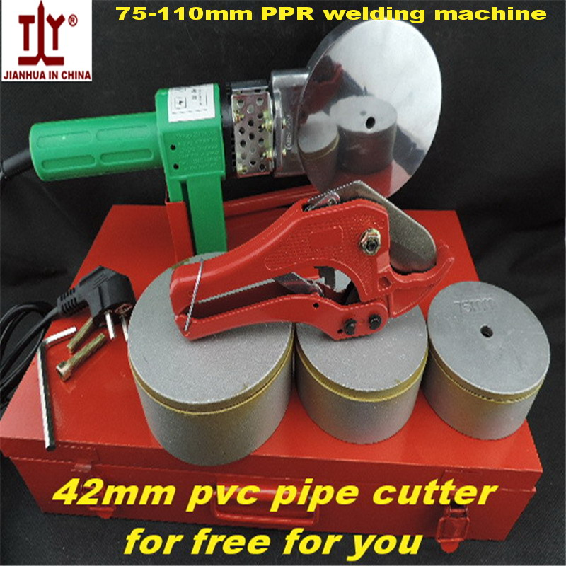 Good Quality Automatic Heating 75/90/110mm 220V/110V AC1200W PPR Pipe Welding Machines Fuser Welding For Plastic Pipe