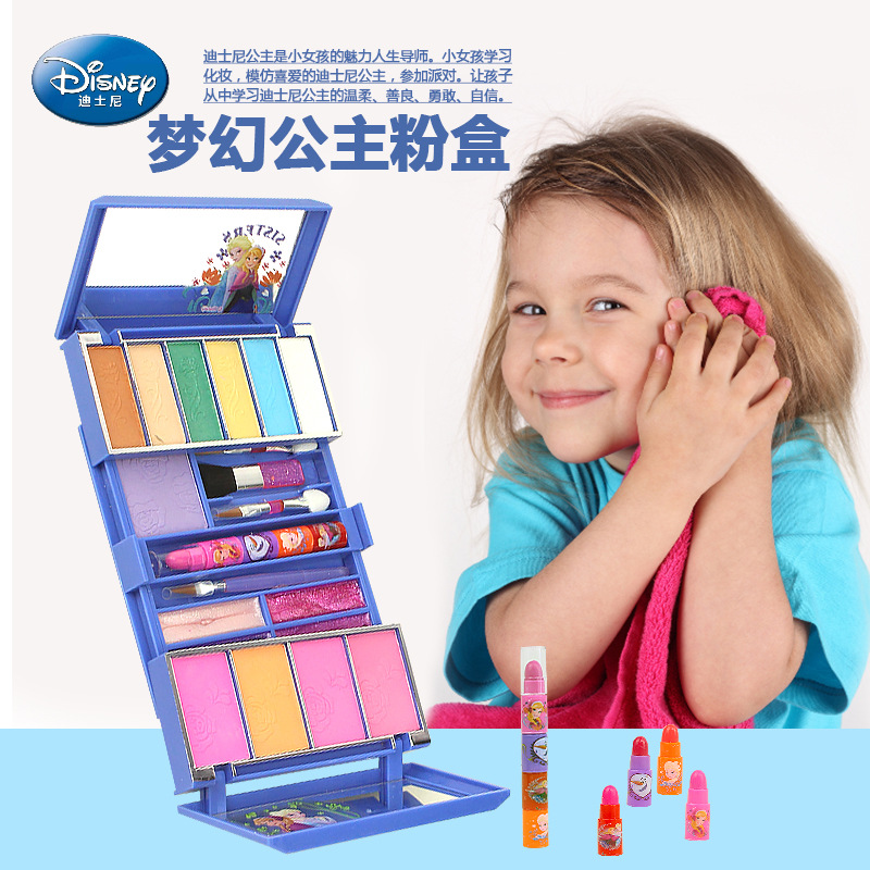 Closeout DealsDisney Toy Makeup-Box-Set Cosmetics-Toy House Lip Gloss Christmas-Present Frozen-Girl