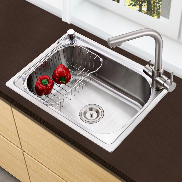 Han Sent 304 Stainless Steel Kitchen Sink Double Groove Xiancai Basins Undercounter Hp308 By Hand