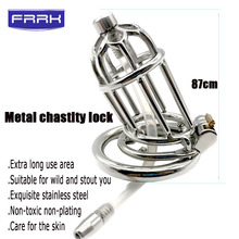 FRRK Factory Male Chastity Device 40/45/50cm scrotum Cock Ring Penis Ring Lock Dick Bondage Chastity Cage Penis sleeve Sex Toys silicone male reusable penis sleeve scrotum ring bondage chastity cage lock sperm cock ring sex toys for men delay ejaculation