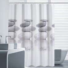 180CM Modern Grey Cobblestone Designer Fabric Shower Curtains Liners For  Bathroom Non Toxic Mildew