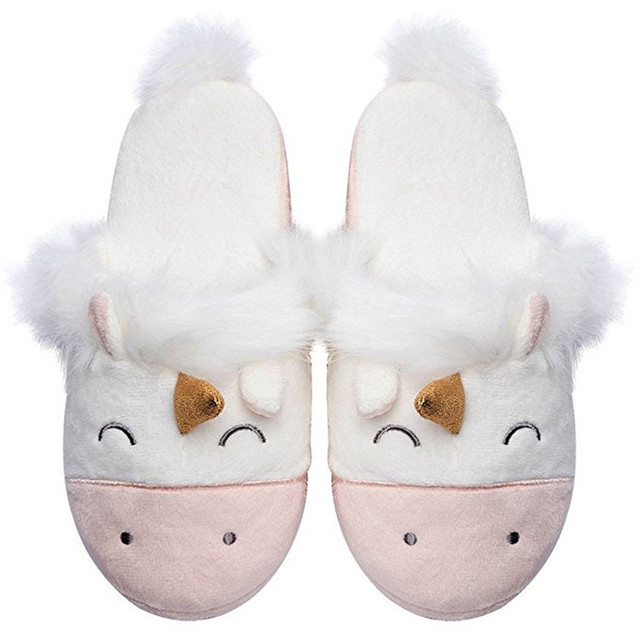 women slippers unicorn slippers for girls   boys animals winter home shoes  plush fashion slides house sleepers gifts Christmas 0644af88b5