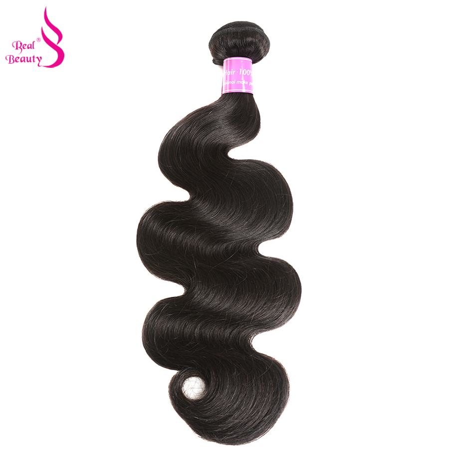 Realbeauty Peruvian Body Wave Hair Extension 1/3/4 Bundles 100% Human Hair Weave B undles 1B Color Non Remy Hair Weave 10-28