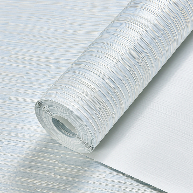 Купить с кэшбэком Modern Solid Color Strip Wall Papers Home Decor Living Room Bedroom Wallpaper Roll for Walls tapeta do pokoju Contact Paper