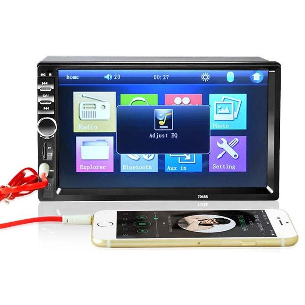 ФОТО REAKOSOUND Vehicle Audio DVD Player 7018B 2DIN car Bluetooth Audio 7