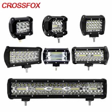 CROSSFOX LED Flood Spot Combo Beam 36W 60W 72W 120W 300W Work Light Lamp Bar For Offroad Motorcycle 4x4 levels Tractor SUV