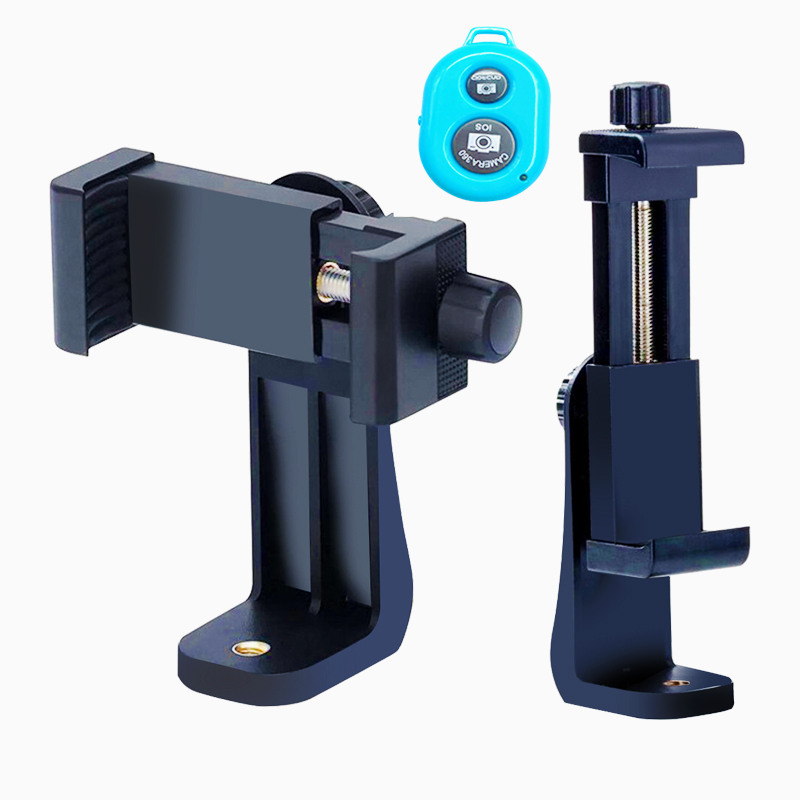 san francisco cf529 af3fa US $0.83 |Universal Tripod Mount Adapter Cell Phone Clipper Holder Vertical  360 Rotation Tripod Stand for iPhone X 7 plus Samsung tripode-in Live ...