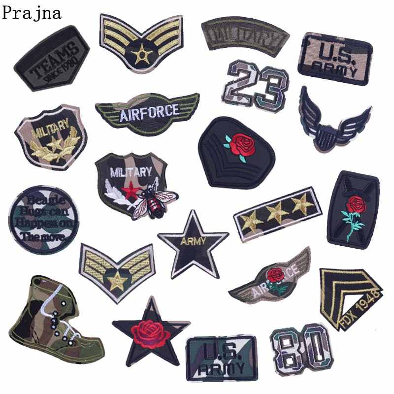 Prajna Military Badge Iron On Patch Tactical Parches Militares Parches Bordados Armmy Stickers For Man Clothing T-shirt DIY