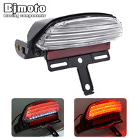 LPL 069 CL Motorcycle Tri Bar Fender LED Tail Brake Light TailLight for Harley Dyna Fat Bob FXDF 08 Up