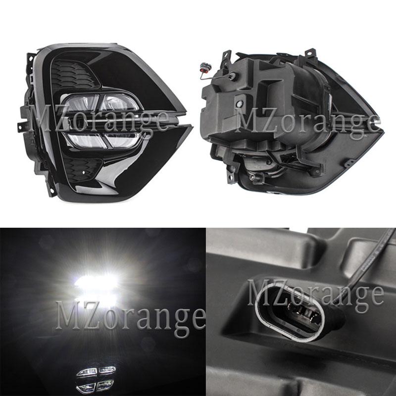 MZORANGE 1 Pair Daytime Running Light  White For Kia sportage 2019 LED Day Light DRL Front Bumper Head Fog Lamp Car Styling