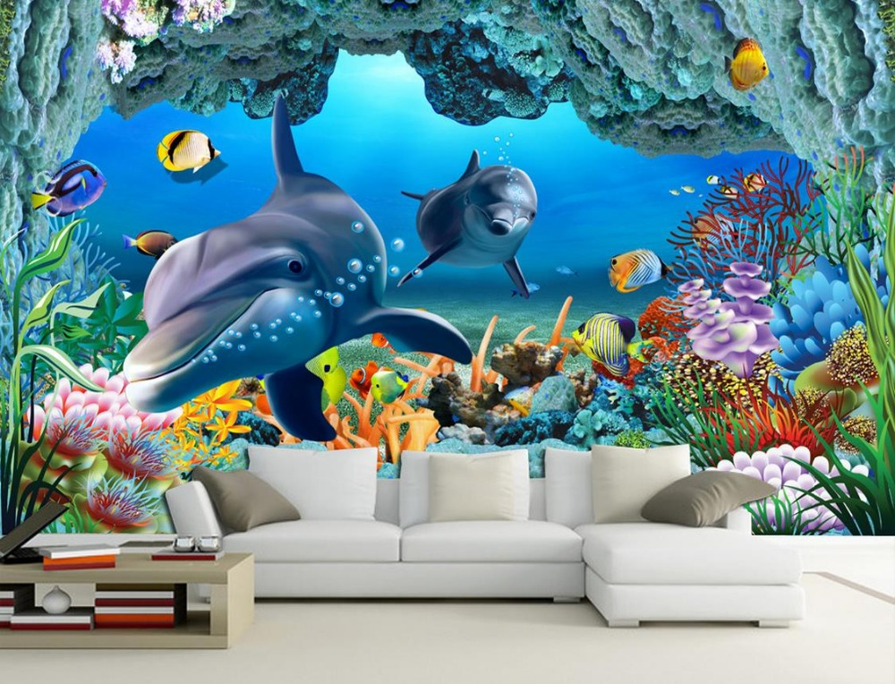 Online get cheap underwater wall murals for Cheap wallpaper mural