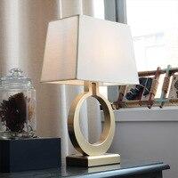 Американская спальня теплый свет прикроватная лампа Nordic декоративная прикроватная лампа туалетный столик гостиная лампа настольная гости