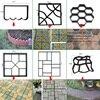 Garden Walk Pavement Mold Brick Stone Road Cement Concrete Molds Path Maker Reusable DIY For Garden Decoration Tool discount