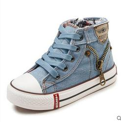 2019 Autumn Expert Skill Children Casual Shoes Boys Girls Sport Shoes Breathable Denim Sneakers Kids Canvas Shoes Baby Boots 1