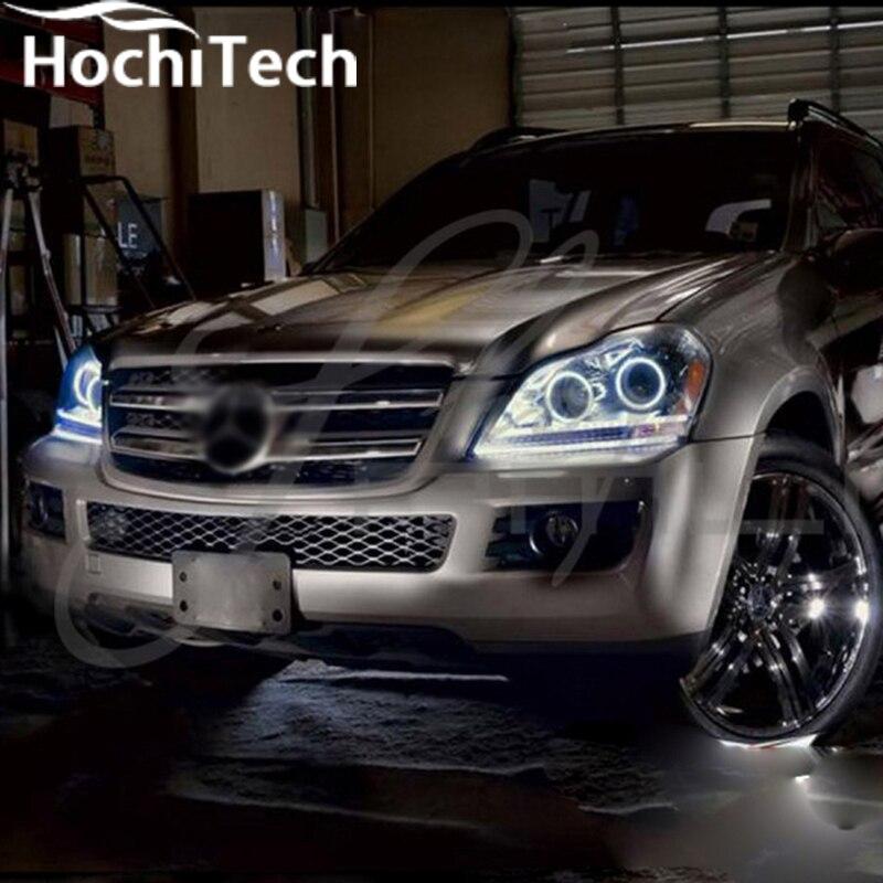Отличные SMD 5050 светодиодный Белый Фар halo ангел демон глаза комплект для Mercedes-Benz gl-класса X164 GL450 2007-2012
