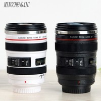 New Mini SLR Lens Isolated Milk Coffee Cup Morning News Insulation Cup Office Stainless Steel Cup