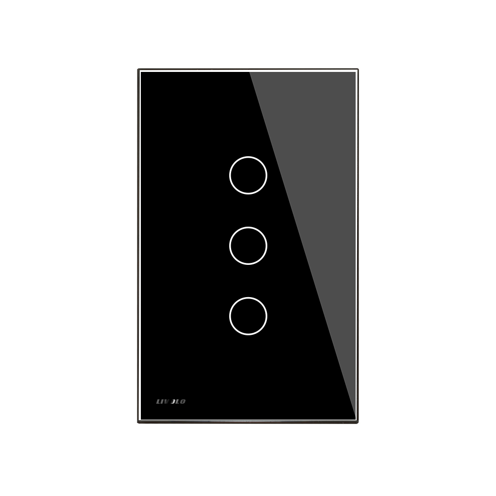 Livolo US/AU standard  Wall Light Touch Screen Remote Switch, 3Gang 2Way, AC 110~250V,  VL-C503SR-11/12, Without Remote