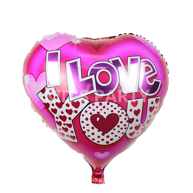 3pcslot I Love You Foil Balloons Valentines Day Globos Metalicos