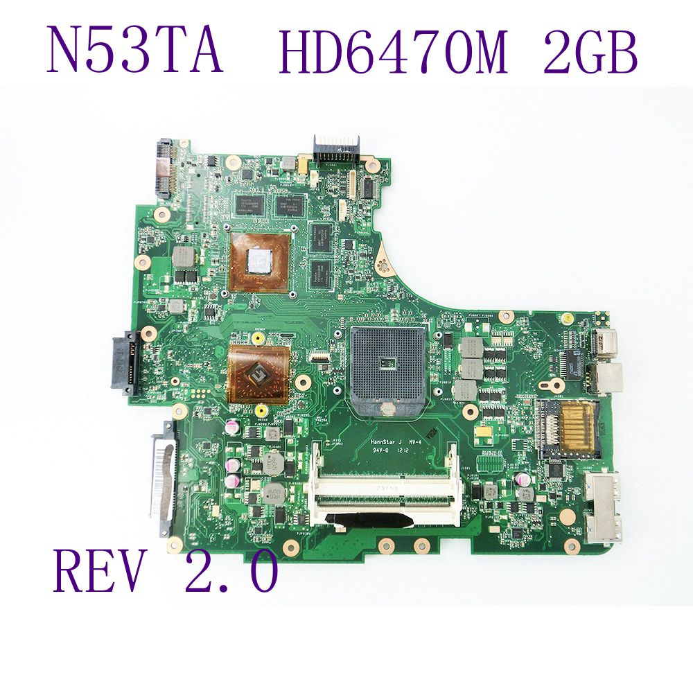 N53TA HD 6470M 2G Motherboard For ASUS Laptop Mainboard REV 2.0 USB 3.0 216-0810005 100% Tested Working Well Free shipping epia ml8000ag epia ml 8000ag epia ml rev a industrial board 17 17 well tested working good