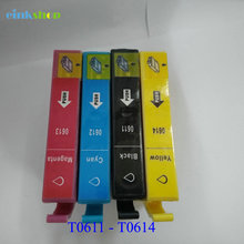 1Set For Epson T0611 T0612 T0613 T0614 Ink Cartridge Stylus D68 D88 DX3800 DX3850 DX4800 DX4850 printer ink
