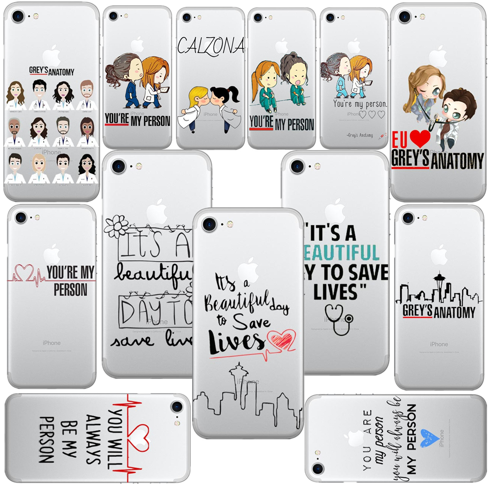 Greys Anatomy You are my person Phone Cases Cover For iPhone 6 6S Plus SE 5S 7 7Plus 8 8 ...