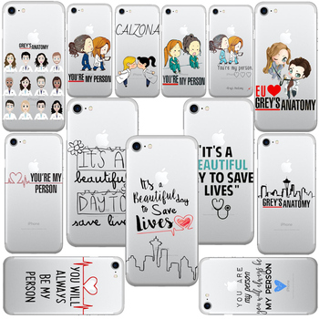 Greys Anatomy You are my person Phone Cases Cover For iPhone 6 6S Plus SE 5S 7 7Plus 8 8Plus Soft silicon TPU Coque Shell Cover feature phone