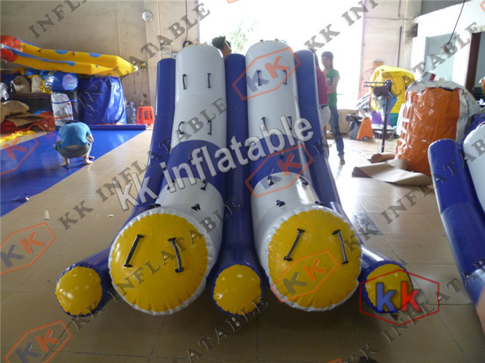 Summer ocean inflatable double totter floating water game for kids