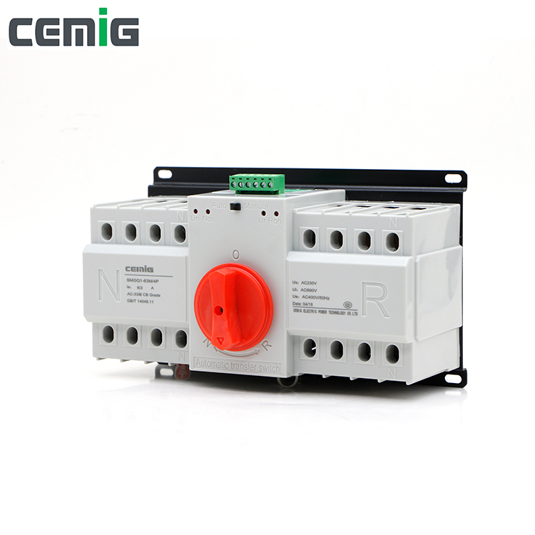 Cemig ATS 4P Dual Power Automatic Transfer Switch SMGQ1-63M AC400V 40A 63A Circuit Breaker MCBCemig ATS 4P Dual Power Automatic Transfer Switch SMGQ1-63M AC400V 40A 63A Circuit Breaker MCB