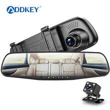 ADDKEY dash cam era Автомобильный dvr двойной Лен зеркало заднего вида Авто dashcam регистратор в автомобиль видео full hd регистратор автомобиля dvr