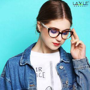 Image 2 - Новинка 2018, дизайнерские компьютерные очки ручной работы из ацетата, оправа для очков для молодых девушек, линзы с защитой от голубого спектра, компьютерные очки