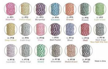 50pcs DIY hand-colored cotton cord West Point box twisted wire packaging decorative rope