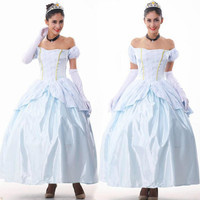 2018 New Halloween Clothes Women Snow White Fancy Princess Cinderella Cosplay Costume Ladies Sexy Fancy Dress Clothes
