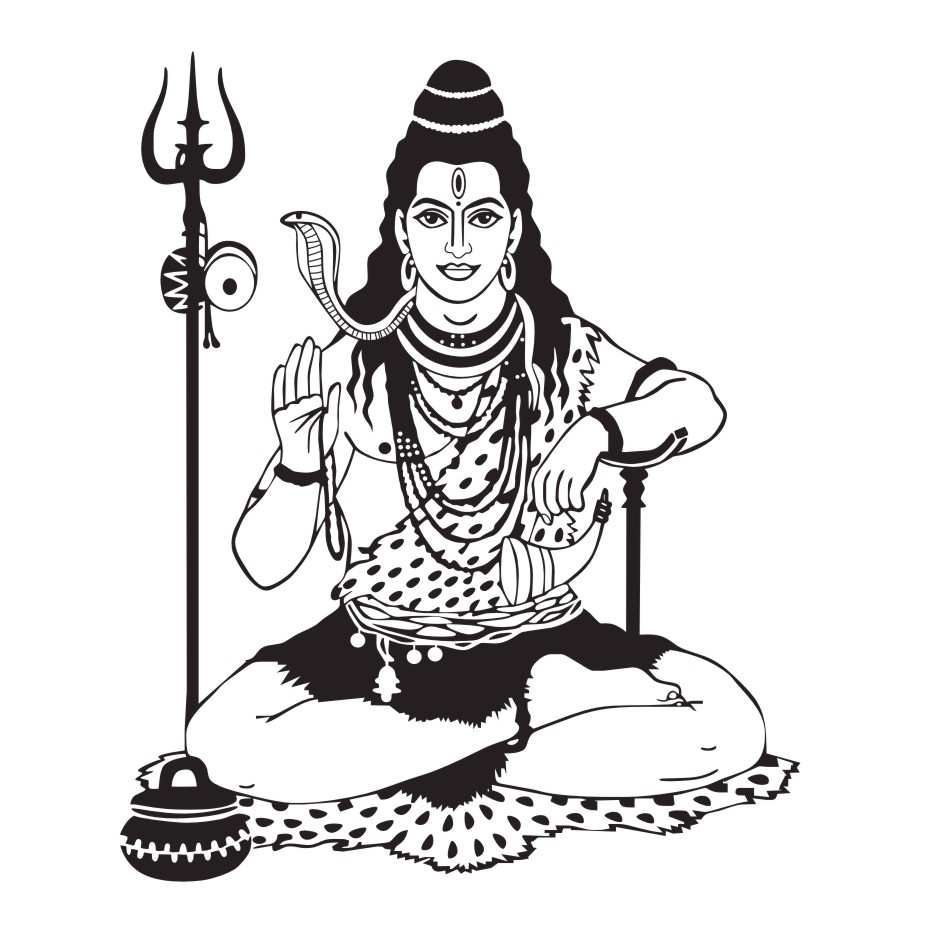 Kumpulan Sketsa Gambar Shiva