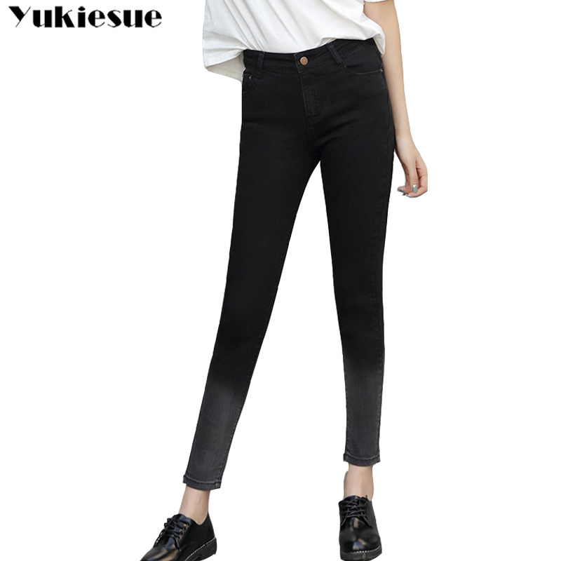 Casual Jeans for women  Ripped Stretch Slim Denim Skinny Jeans Pants with high waist jeans Plus Size Comfortable vintage jeans